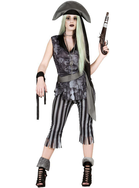 Disfraz de pirata fantasma saqueadora para mujer
