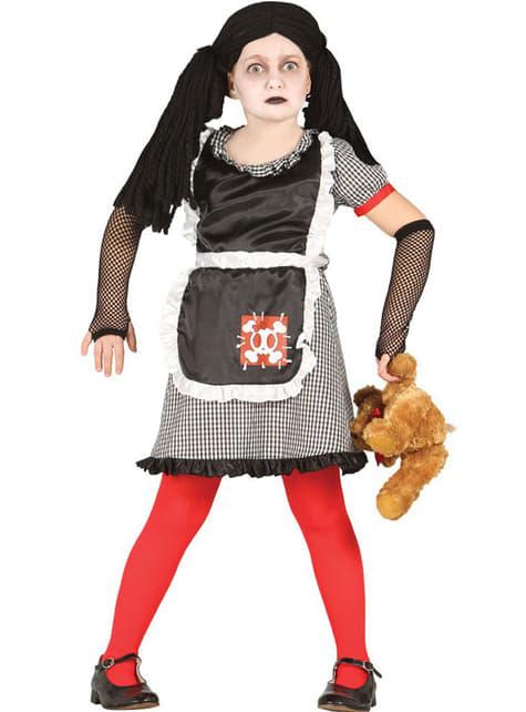 Strój diaboliczna lalka gotycka dla dziewczynki