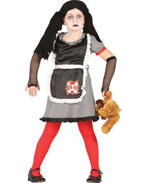 Fato de boneca diabólica gótica para menina