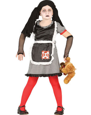 Girls Gothic Diabolic Doll Costume