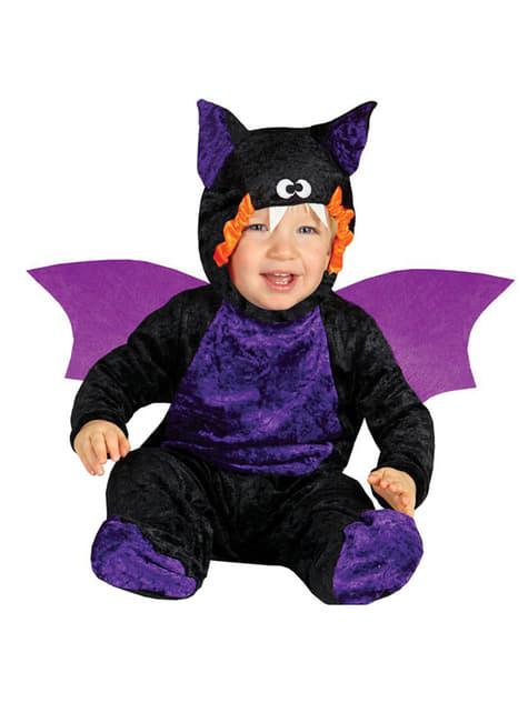 Fato de morcego maroto para bebé