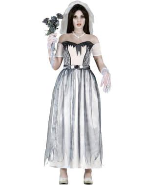 Disfarce de noiva fantasma para mulher