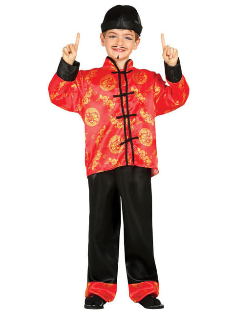 Mandarin Kinesisk Kostyme Gutt