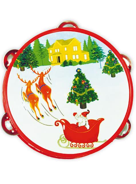 Pandereta navideña Papá Noel
