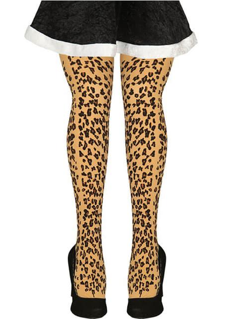Leoparden Strumpfhose