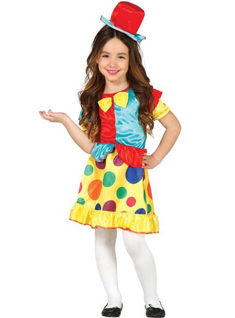 Girls Chic Clown Costume