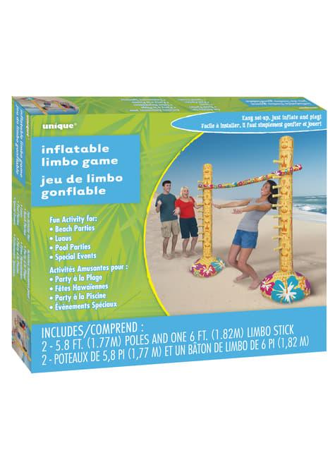 Juego de limbo hinchable hawaiano