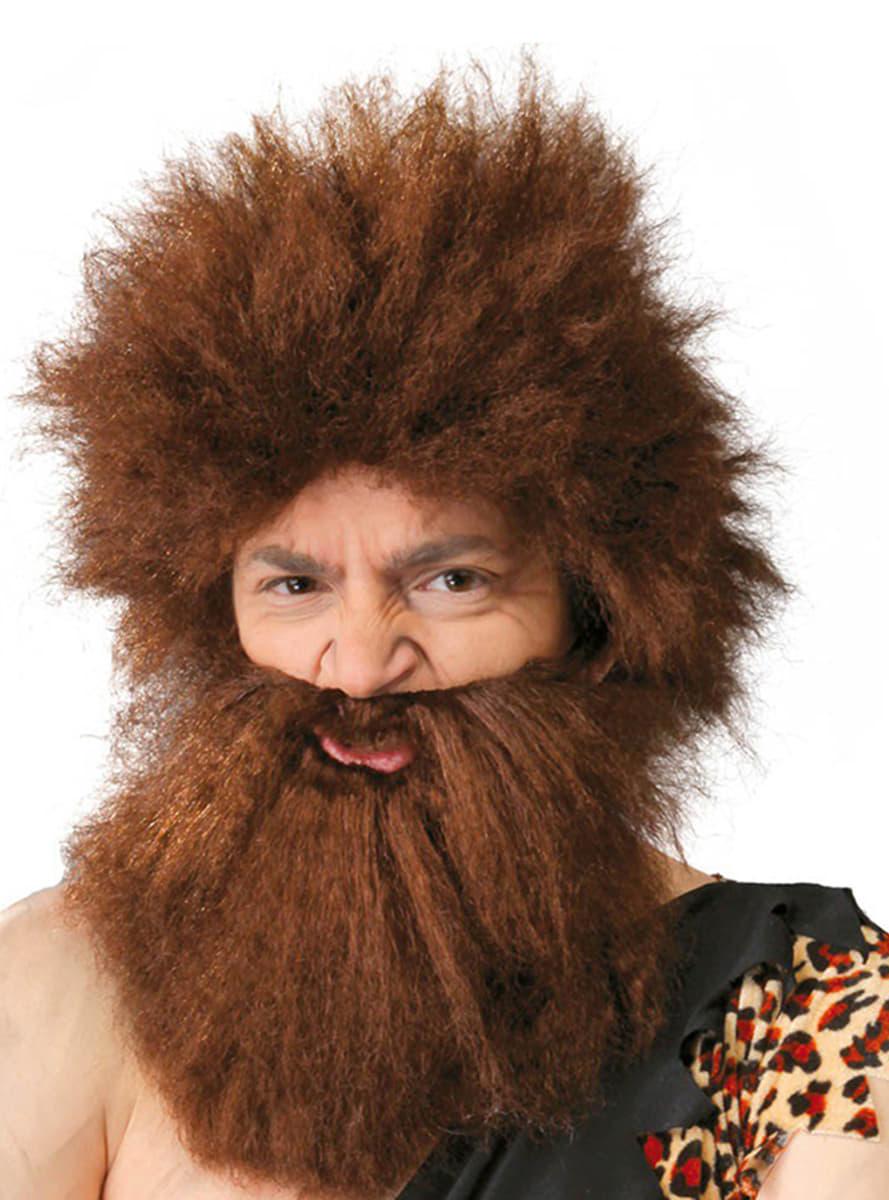 Caveman Beard : Caveman wig with beard