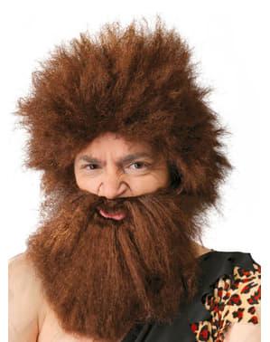 Perruque troglodyte avec barbe