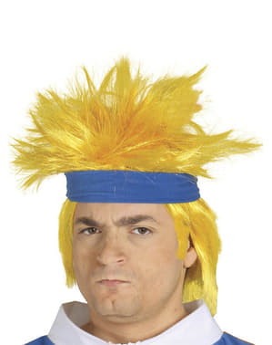 Perruque homme manga blonde