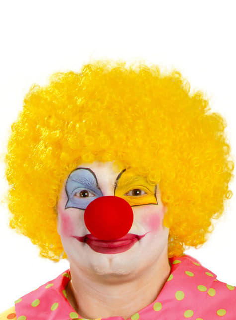 Mens Yellow Clown Wig