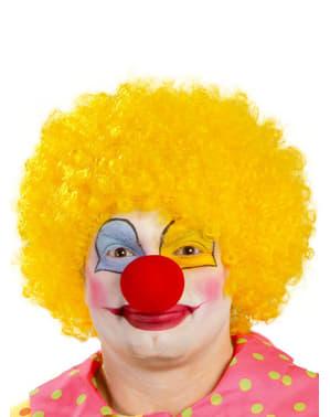 Gele clown pruik voor mannen