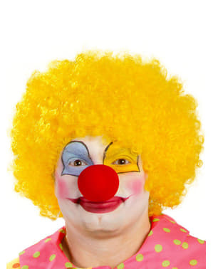 Mens Yellow Clown Wig