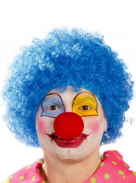 Blauwe clown pruik voor mannen