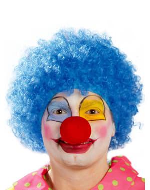 Clown Perücke blau für Herren