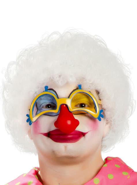 Mens White Clown Wig