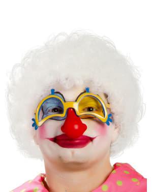Witte clown pruik voor mannen