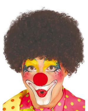 Bruine clownpruik voor mannen