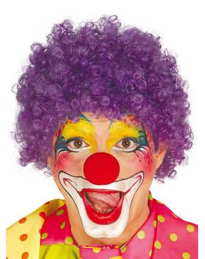 Perruque de clown lilas pour homme