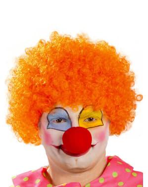 Oranje clown pruik voor mannen