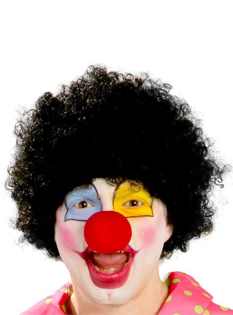 Clown Perücke schwarz für Herren