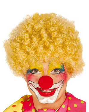 Mens Blond Clown Wig
