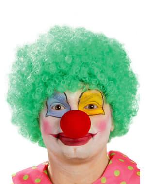 Groene clown pruik voor mannen