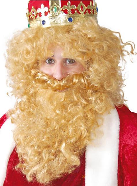 Kong Kasper paryk med skæg