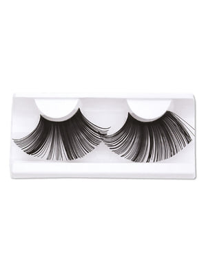 Thick Long Eyelashes with Adhesive