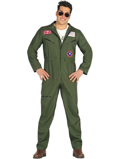 Jagerfly Pilot Kostyme Mann