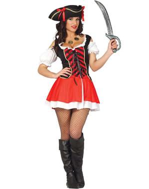 Секси дамски костюм на пират корсар
