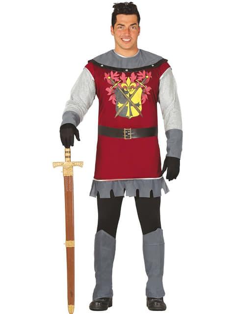 Fato de príncipe medieval para homem