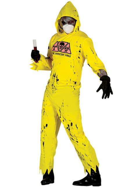 Fato de zombie radiativo para adulto