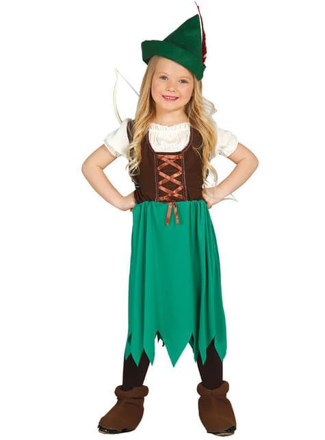 Disfraz de Robina de los bosques para niña