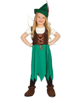 Costume da Robin dei boschi per bambina
