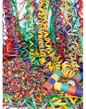 Sæk med flerfarvet konfetti 10 kg.