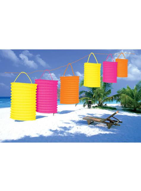 Sett med 6 Hawaii Lanterner