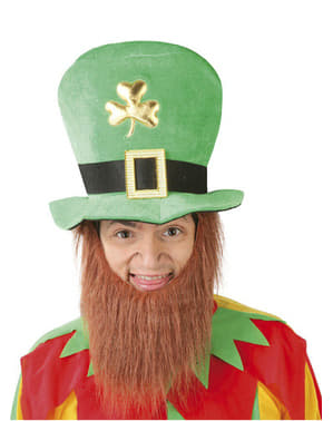 San Patrik hat med skæg