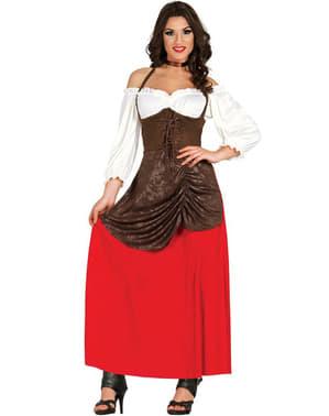 Costum ospătăriță frumoasă pentru femeie