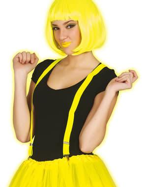 Tirantes amarillo neón