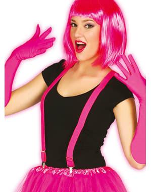 Roze neon bretels