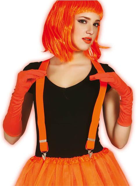 Неоновые оранжевые брекеты