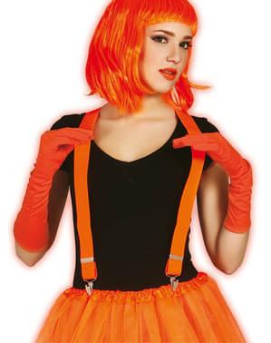 Oranje neon bretels