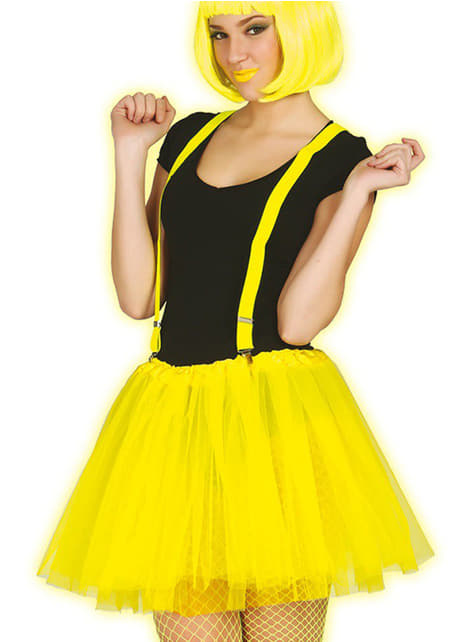 Womens Neon Yellow Tutu