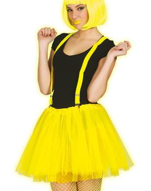 Tutu amarelo néon para mulher