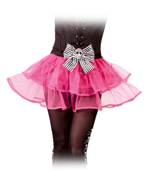 Tutu cor-de-rosa caveira para mulher