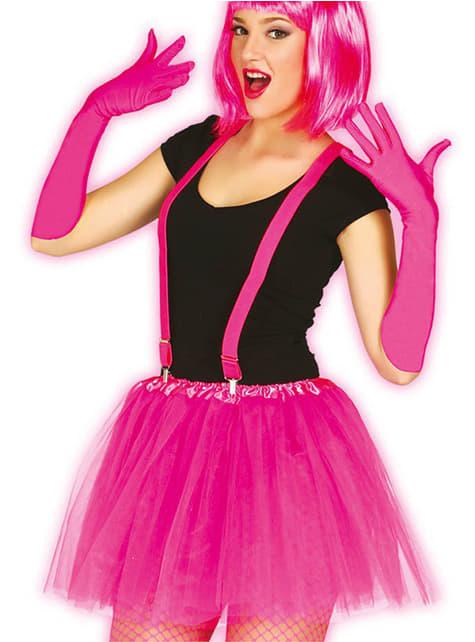 Neon roze tutu voor vrouw