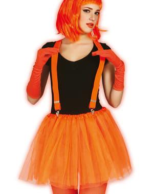 Tutù arancione fosforescente da donna
