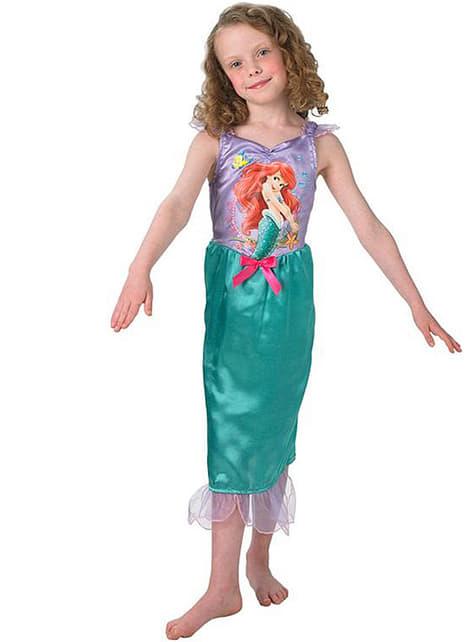 Fato de Ariel conto para menina