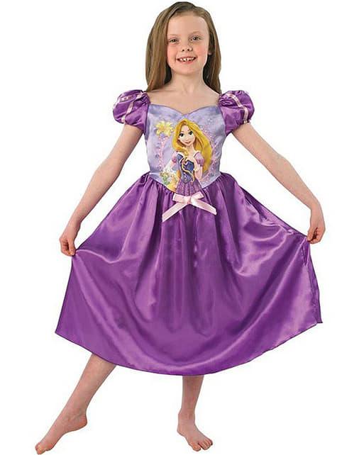 Fato de Rapunzel conto para menina